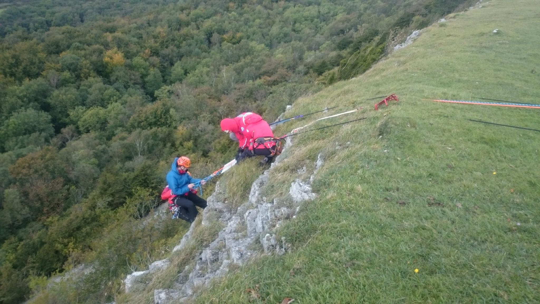 Rope rescue on Scout Scar