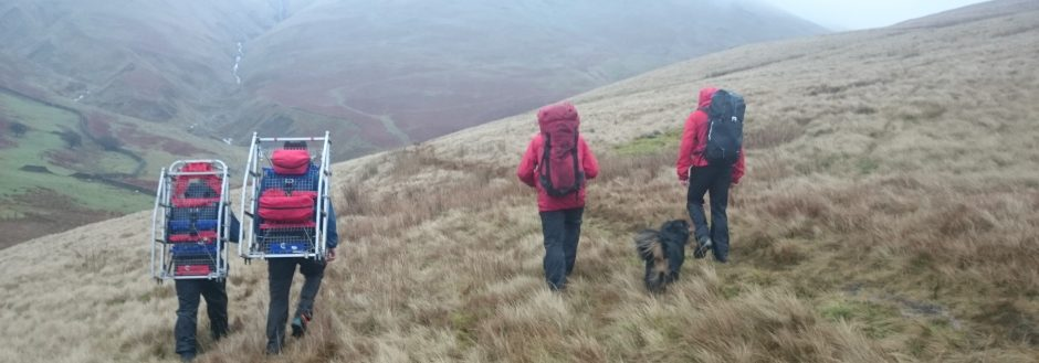 Search and Evacuation in the Howgills