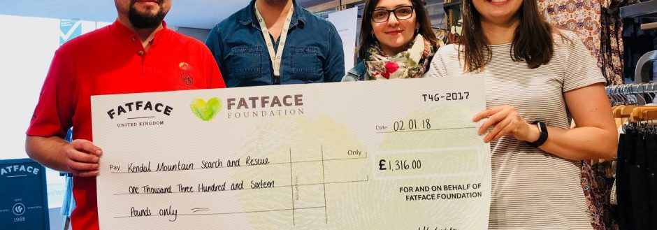 Donation from Fat Face