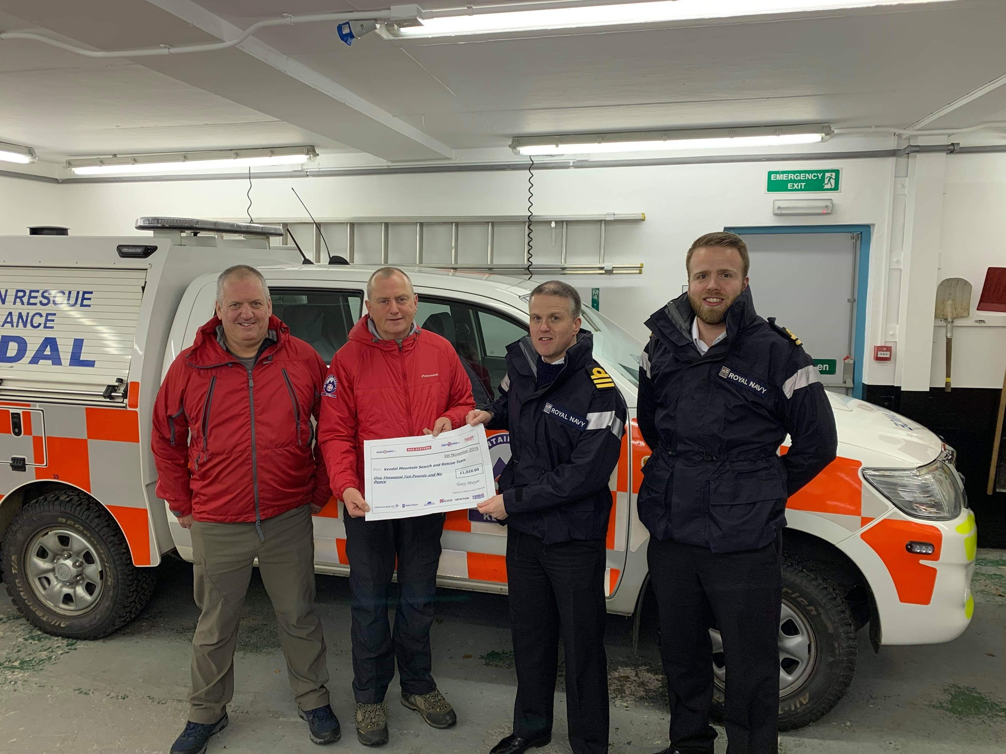 BAE Systems Present Cheque